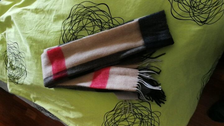 上海故事羊绒羊毛围巾男女款冬保暖围脖披肩177070 177062驼色 晒单图