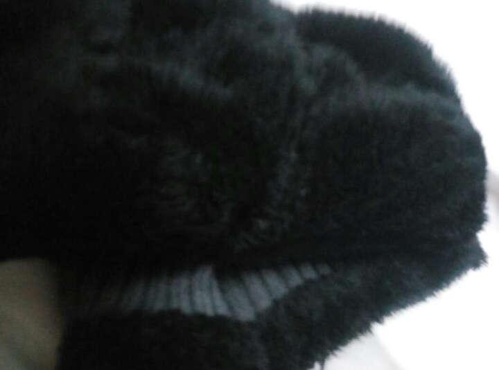 帽子男冬天加绒毛线帽加厚针织帽秋冬套头帽男包头帽棉帽冬季帽男 加厚版围脖+帽子套装灰色 可调节 晒单图