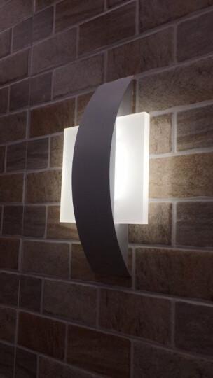 麦莱 led壁灯 床头灯过道楼梯儿童房客厅卧室现代简约创意北欧墙灯具 半圆形4瓦 长24*宽13.5*厚4.5cm 暖黄光 晒单图