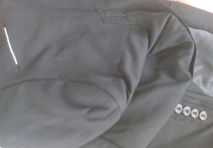 古莱登 西服套装男士三件套四季韩版修身小西装职业正装伴郎新郎结婚礼服 酒红色三件套(西服+西裤+马甲) L 晒单图