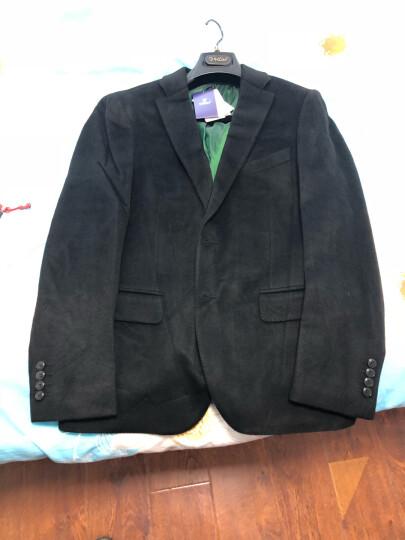 金利来西服男士羊毛混纺保暖有型商务西装外套 藏蓝-95 52B 晒单图