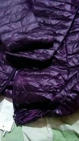 尊首羽绒服女轻薄2017秋冬季新品女装韩版修身时尚显瘦中长款外套女 黑色 2XL 晒单图