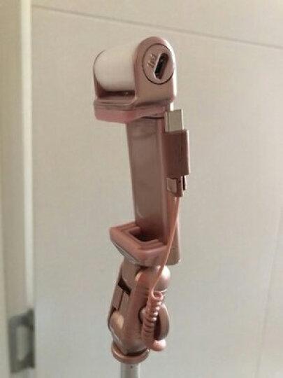 征酷 蓝牙自拍杆 多功能直播三脚架 360°全方位旋转立体补光美颜神器 安卓苹果通用 支架-玫瑰金 晒单图