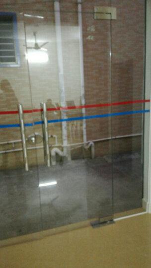 忆美特玻璃门腰线 防撞条 彩色边框装饰条 办公室隔断彩条贴纸 灰色 5cm宽 55cm长 10条 晒单图