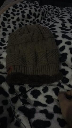 冬季男士帽子韩国版潮毛线帽加厚针织帽秋冬天套头帽包头帽 浅咖啡 晒单图