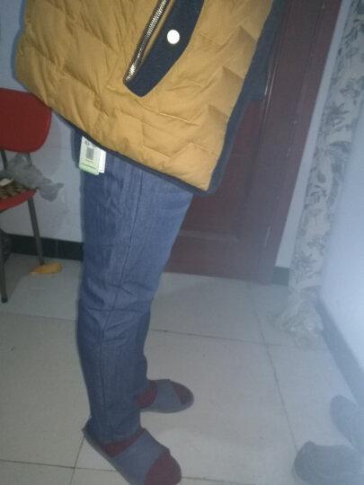 加绒裤男2020秋冬季加厚保暖修身小脚直筒牛仔裤潮流时尚工装裤子男 N339蓝色  34 晒单图