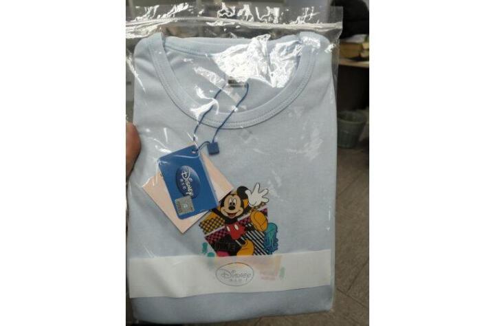 三枪(THREEGUN) 【迪士尼经典款】三枪迪士尼儿童女童男童纯棉薄款内衣套装 男童-浅蓝-28411 160 晒单图