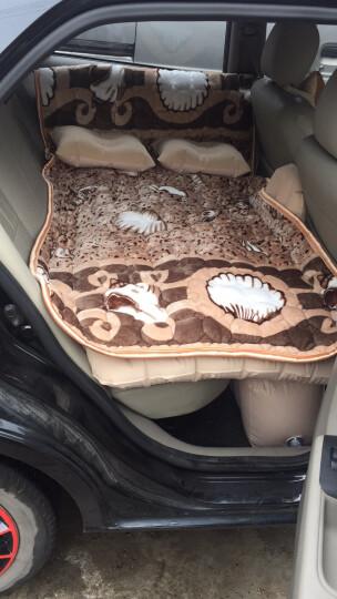 沿途车载充气床汽车用后排充气床垫分体式车床自驾游装备汽车旅行床气垫床 分体-米色小熊双护挡带护头挡 晒单图