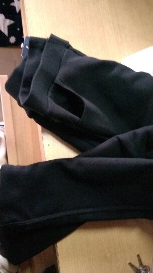 温格施 2018春装新款休闲裤女韩版时尚修身显瘦铅笔打底裤女小脚西装长裤 加绒黑色 XXL 晒单图