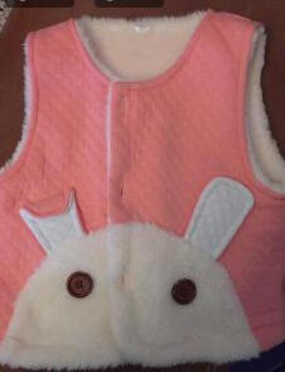 南极人(Nanjiren) 秋冬新款婴儿加厚毛绒马甲婴幼儿童双层空气层马夹宝宝外出棉衣坎肩 小兔子耳朵-姜黄 73CM 晒单图