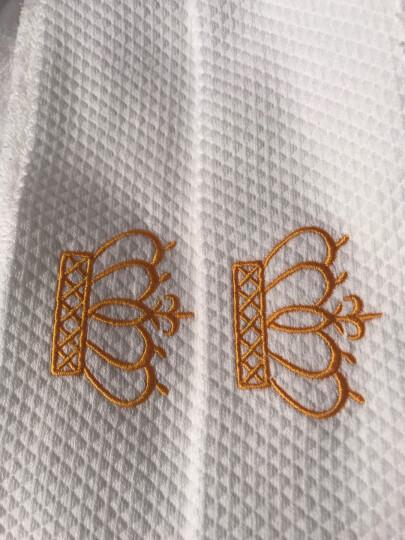 南极人家纺 五星级酒店宾馆浴巾三件套 纯棉成人加大加厚吸水男女情侣大毛巾 徽章 浴巾三件套 晒单图