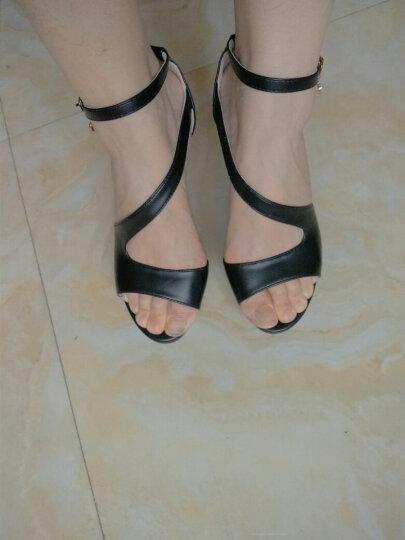 邻家天使 鱼嘴凉鞋女夏季2017新款时尚性感高跟鞋包跟细跟女鞋 邻家9903黑色 38 晒单图