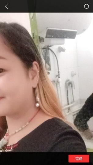 艾梵妮 韩国珍珠银针耳坠超仙耳线长款花朵耳钉流苏吊坠气质简约耳环女 热巴同款-扇形耳线 晒单图