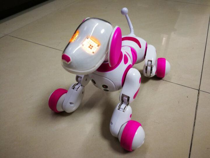 智能机器狗玩具机器人遥控儿童玩具狗可充电电动宠物狗男孩女孩4-12岁礼物 1875片大辽宁号中国航母 晒单图
