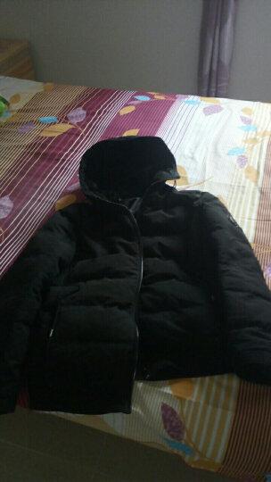 ?????奇尔行冬季棉服男外套2018青年带帽冬装韩版潮男装男士棉衣冬天棉袄子衣服时尚 黑色 XL 晒单图