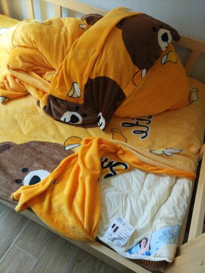 奥卡索 床垫子羽绒飘窗垫床褥垫子床护垫背1.2m学生宿舍单人1.5m床1.8m加床褥子 粉色 1.2米床儿童床4斤 晒单图