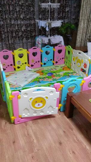 澳乐 儿童婴儿游戏围栏宝宝学步围栏栅栏海洋球池室内爬行垫围栏安全防护栏 16+2 AW-16AX-WCBF-N 晒单图