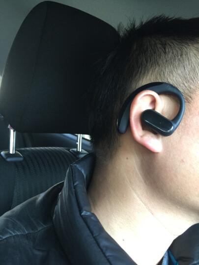 【送电池】911 无线蓝牙耳机可换电池 运动商务迷你挂耳式 通用苹果安卓小米华为vivo小米oppo 亮黑-语音接听 HiFi音效 晒单图