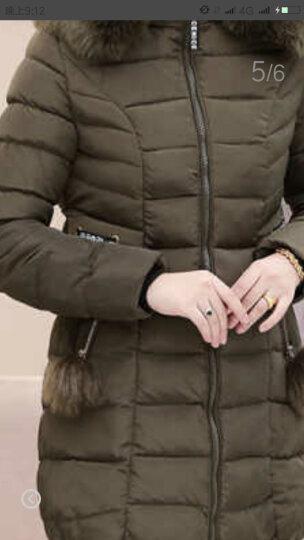 贵人妞 中老年女装棉服中长款外套中年妈妈装棉衣40-50岁中年妇女大码宽松连帽羽绒棉袄加厚 灰色 3XL(建议135-150斤以内) 晒单图