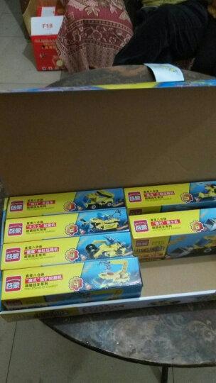 启蒙 积木玩具 8合1航母拼装玩具拼插兼容乐高军事警察儿童益智玩具男孩 1米长航空母舰送拆件器 晒单图