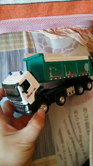 彩珀工程车模型合金消防车翻斗车沃尔沃搅拌玩具车仿真垃圾车大卡车儿童玩具男孩 混凝土搅拌车-黄色 晒单图