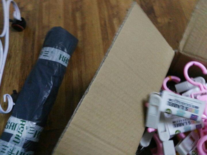 【2件9折】卡三可伸缩儿童衣架晾衣架防滑裤架衣架子宝宝婴儿塑料裤夹衣撑衣挂衣服架子 裤架-粉色-10个装 晒单图