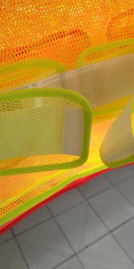 班工安全反光背心交通施工工程反光衣夜跑骑行反光马甲网格透气反光服简易建筑反光服 黑色\黄条 晒单图