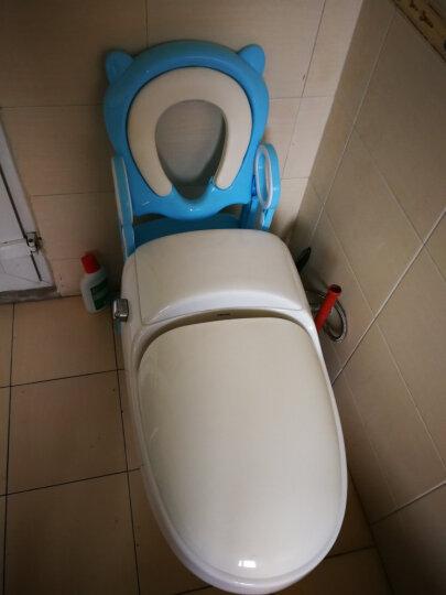 米蓝图(MLED)儿童坐便器马桶梯小孩马桶圈男女宝宝座便器 带底板蓝色软座 晒单图