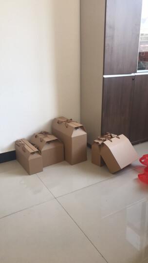 乐辰牛皮纸通用手提纸盒高档土特产粽子礼品包装盒月饼水果包装箱印刷 STR 370×150×330mm 晒单图