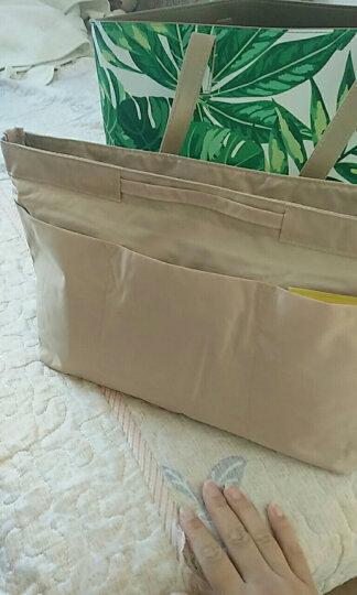 乐百格包中包韩版旅行化妆品收纳包防水内包整理袋女包多功内胆包 卡其色 大号 晒单图