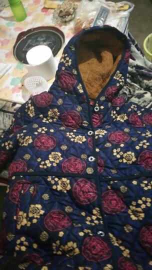 心娜2017冬季中老年女装妈妈装冬装宽松加绒加厚棉衣棉服老人外套1497 花色6 3XL 晒单图