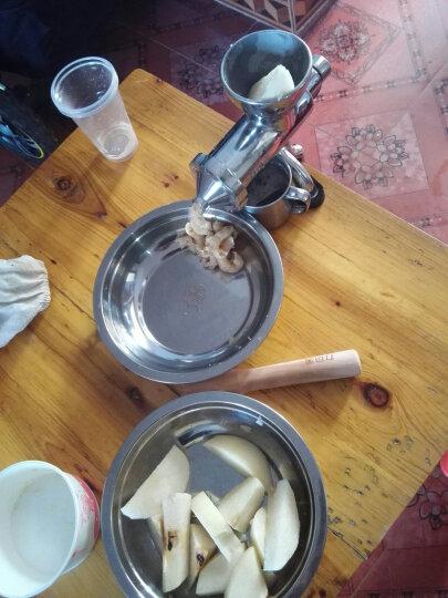 力可美(LUCKY MAN) 手动榨汁机不锈钢家用手摇水果蔬菜小麦草榨汁机304不锈钢石榴果汁机 晒单图