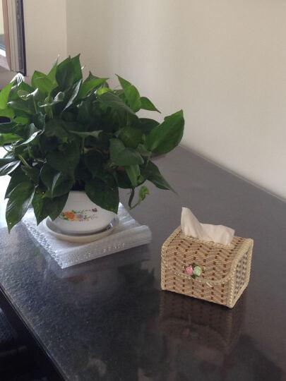 华居尚品 海草纸巾盒 长方形抽纸收纳盒 原色 8.5*12.5*27cm 晒单图