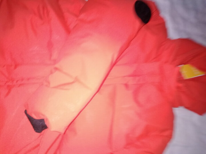 男童棉衣长款冬装儿童棉袄2017新款潮童装中大儿童小孩衣服 臂章棉服 橘色 110建议身高100-110cm 晒单图