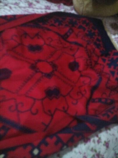 亦尔杜伦围巾女2017秋冬新款加厚保暖仿羊绒印花围脖披肩两用礼盒装 红色 65*190CM 晒单图