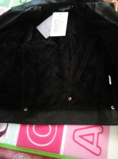 小皮衣女短款皮外套秋冬新款加厚保暖修身皮夹克 黑色四季款 S 晒单图
