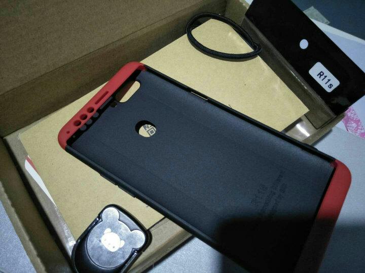 SKSK OPPOR11s/R11手机壳R11Plus全包三段式撞色磨砂保护套防摔潮牌网红男女款硬壳 R11s贵族蓝 晒单图