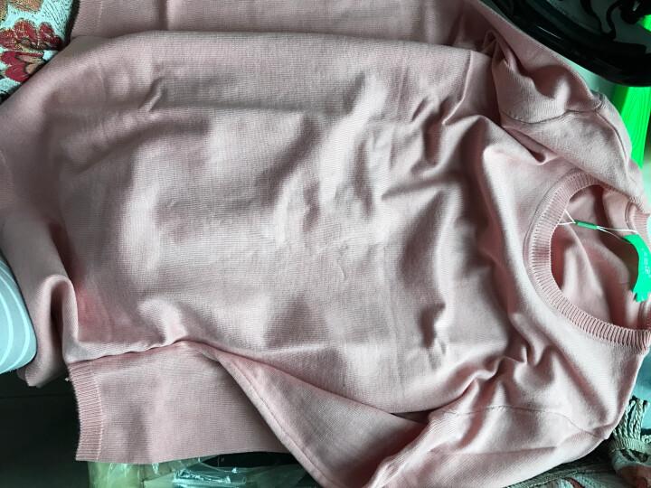 唛芭芘孕妇装秋装上衣韩版毛衣中长款针织衫春秋套头孕妇毛衫7001 粉红色 L 晒单图