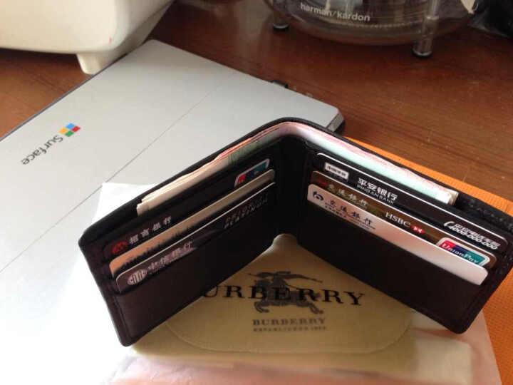 BURBERRY 巴宝莉 男款格纹织物配皮钱包 39455551 晒单图