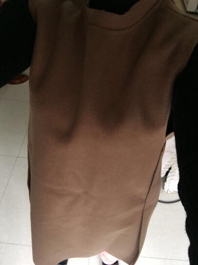 慕姿莎连衣裙长袖针织毛呢两件套背心裙套装裙女2018春夏新款性感打底裙A字裙SML61 红色套装 M 晒单图