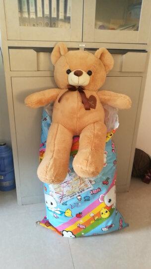 莱克咪 圣诞礼物大号毛绒玩具泰迪熊公仔毛衣抱抱熊熊猫玩偶布娃娃送女生生日礼物 粉红浪漫丝带款发光蓝牙款 1米 晒单图
