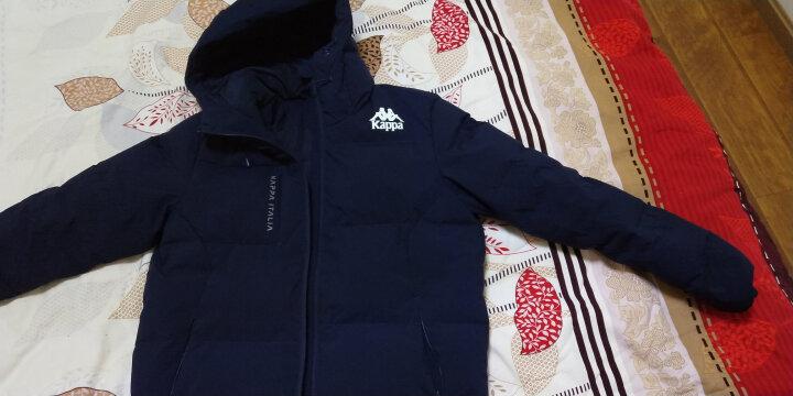 Kappa卡帕 羽绒服男款短款保暖加厚运动背靠背外套男冬季 深海蓝-888 M 晒单图