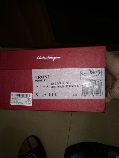 Ferragamo菲拉格慕男鞋经典鞋扣商务休闲鞋多款可选 深蓝色 660824 42.5 晒单图