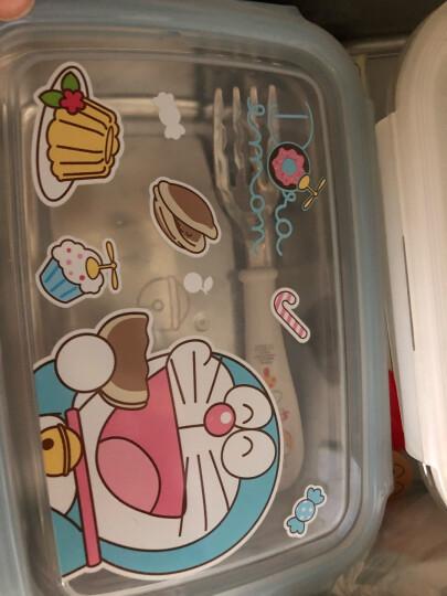 迪士尼(Disney)韩国进口维尼方形真空儿童不锈钢保鲜便当饭盒餐具 晒单图