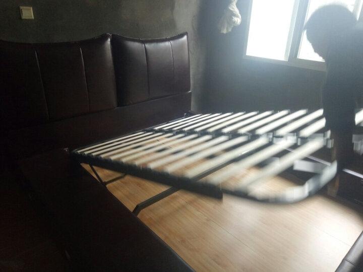 艾森雅 音响按摩 真皮床 储物床 双人床 1.8米 婚床 三抽真皮床 智能版(音响按摩)+床垫+床头柜*1 1800*2000 晒单图