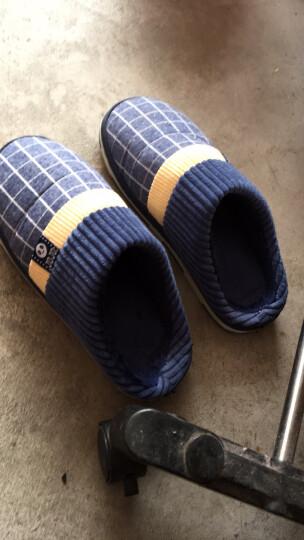 新品棉拖鞋男士秋冬季半包跟加厚毛绒保暖拖鞋厚底舒适软底防滑居家居拖鞋 咖啡色 27码适合39-40 晒单图