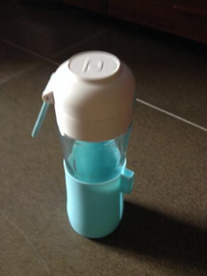 Glasslock三光云彩 进口玻璃运动水杯 茶杯茶具 杯子 带滤茶器 蓝色螺旋盖 晒单图