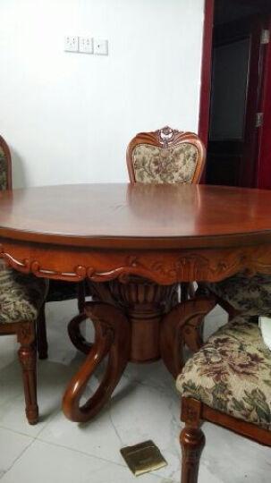 简右家具 欧式实木圆桌 豪华雕花餐桌 橡木餐桌椅 吃饭圆台 1.3米圆桌不带转盘 晒单图