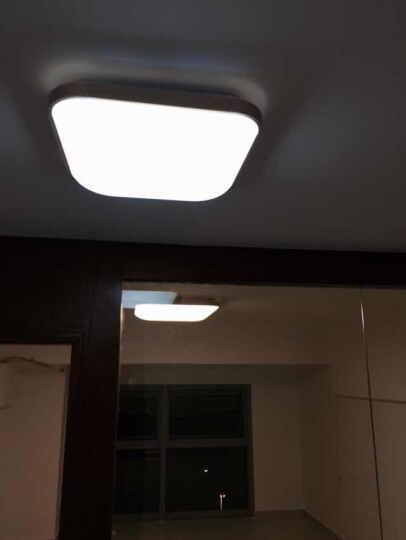 买大送小 围普铁艺现代简约圆形LED吸顶灯遥控调光调色客厅卧室书房LED吸顶灯灯具灯饰 (促销)铁艺方格780大64W无极遥控 晒单图