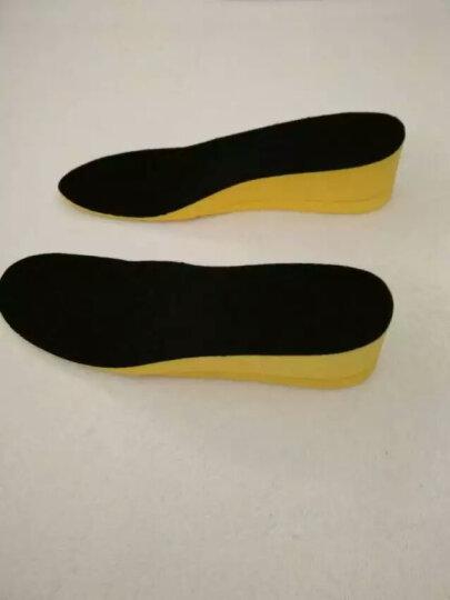 【牧足】隐形内增高鞋垫男女 舒适减震 运动鞋垫 5cm增高鞋垫 3cm增高垫 2cm 黑色 男一层2.0cm39-45码可裁剪 晒单图